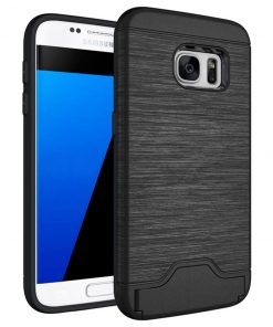 Samsung s7 siyah renk standlı kılıf