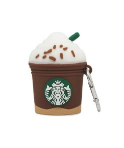 starbucks kahve desenli silikon airpods kılıfı