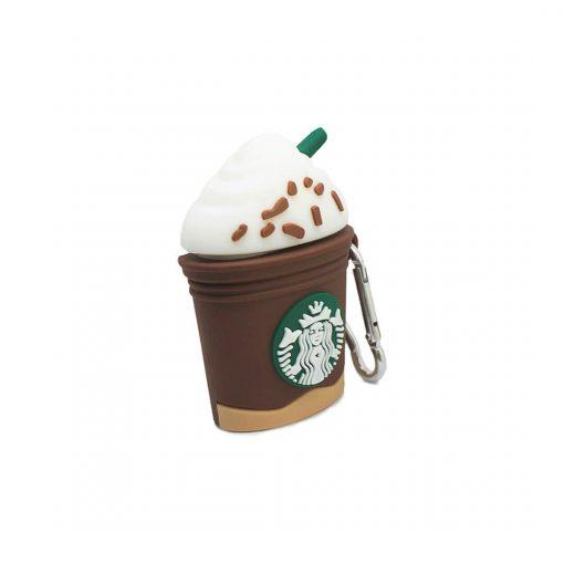 starbucks kahvesi desenli airpods koruma kılıfı