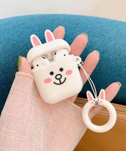 tavşan desenli silikon airpods koruma kabı elden