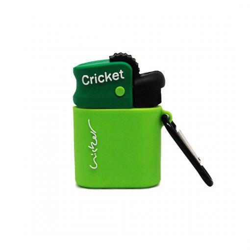 yeşil cricket çakmak desenli silikon airpods kılıfı