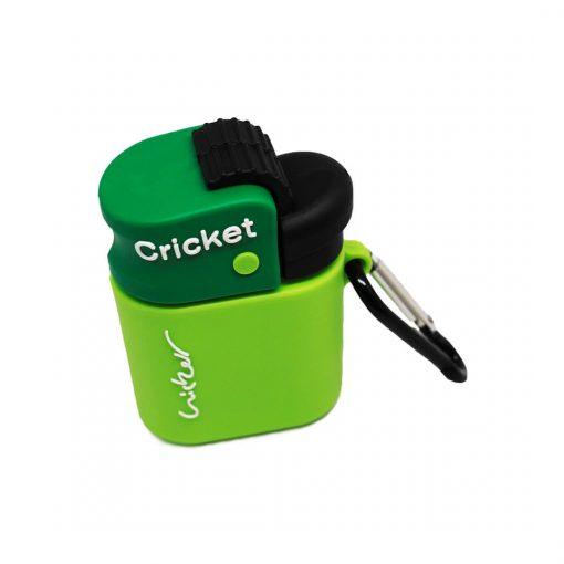 yeşil cricket desenli airpods koruma kılıfı